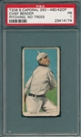 1909-1911 T206 Bender, Pitching, No Trees, Sweet Caporal Cigarettes PSA 1