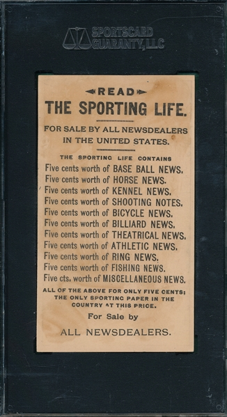 1880's H804-4, Hold It, Drop Sporting Life SGC 30 *Strong Front*
