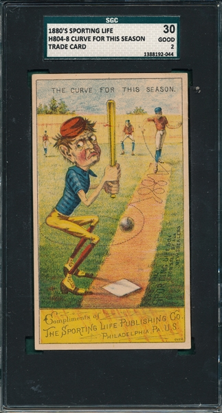 1880's H804-4, Curve For This Season, Drop Sporting Life SGC 30 *Strong Front*