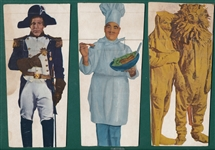 1955 Masquerade Party Game Cards Durocher, Jack Dempsey & Pee Wee Reese, Lot of (3)