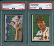 1951 Bowman #302 Busby & #315 Taylor, Lot of (2) PSA 6 *High #*