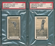 1925 Arthur G. Havers, How to Play Golf, Imperial Tobacco, Lot of (6) W/ #24 Putting, PSA 7.5