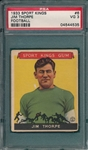 1933 Sports Kings #6 Jim Thorpe PSA 3