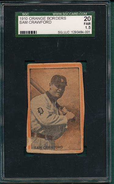 1910 Orange Borders Sam Crawford SGC 20