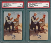1953 Brown & Bigelow Connie Mack, Lot of (6) PSA 8 & 9