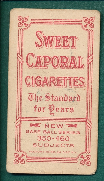 1909-1911 T206 Chance, Yellow Portrait, Sweet Caporal Cigarettes