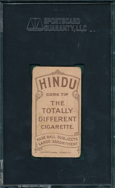 1909-1911 T206 Brown, George, Hindu Cigarettes SGC 10