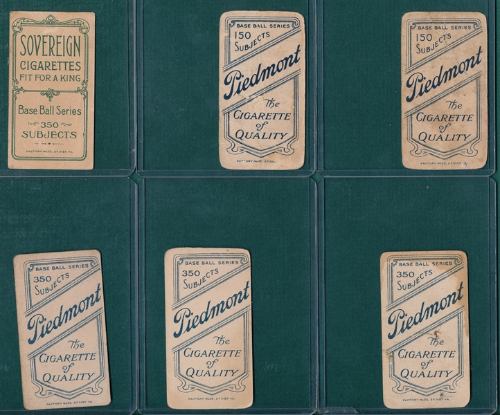 1909-1911 T206 Lot of (6) W/ Bates