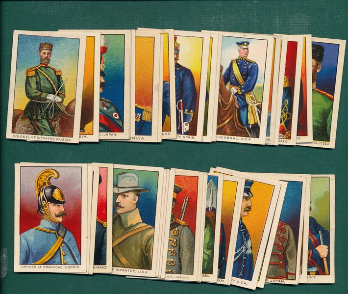 1910 T79 Military Series Fez & Tolstoi Cigarettes Lot of (44)