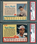 1962 Post Cereal Lot of (5) W/ Mantle PSA