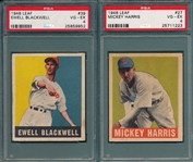 1948 Leaf Lot of (5) W/ #77 Smalley PSA