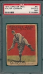 1914 Cracker Jack #57 Walter Johnson PSA 2 (MK)