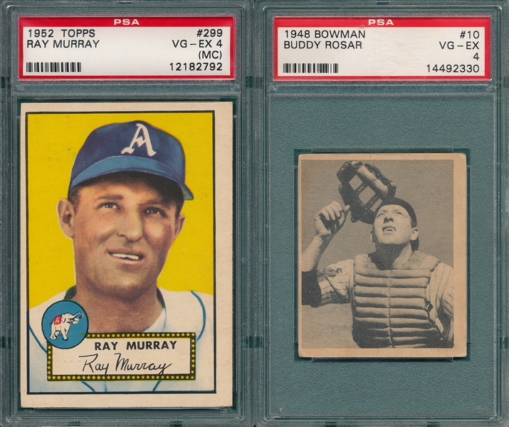 1948-76 Topps/Bowman Lot of (5) W/ 52T Murray PSA