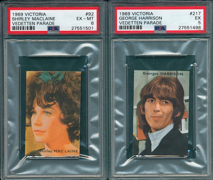 1969 Victoria Lot of (5) W/ George Harrison PSA