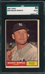 1961 Topps #300 Mickey Mantle SGC 50