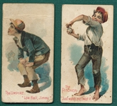 1889 N88 Terrors of America Baseball, The Pitcher & The Umpire. Lot of (2)