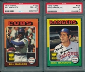 1975 Topps Lot of (6) W/ #104 Madlock PSA 8