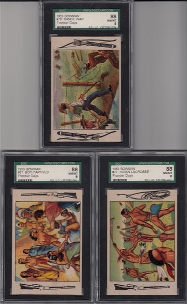 1953 Bowman Frontier Days, Lot of (5) W/ #97 SGC 92