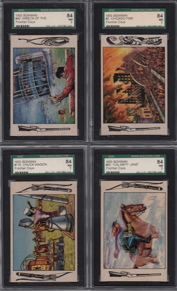 1953 Bowman Frontier Days, Lot of (8) W/ #2 SGC 84