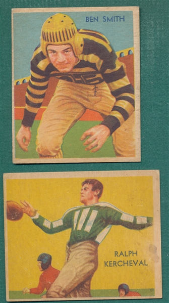1935 National Chicle #16 Smith & #19 Kercheval, Lot of (2)