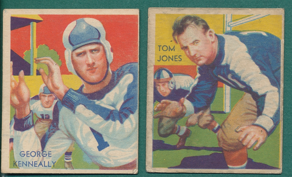 1935 National Chicle #3 Kenneally & #17 Jones, Lot of (2)