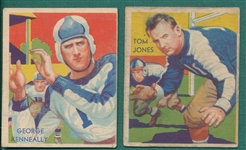 1935 National Chicle #03 Kenneally & #17 Jones, Lot of (2)
