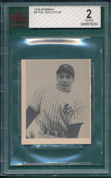 1948 Bowman #8 Phil Rizzuto BVG 2 *SP*