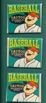 1960 Topps Tattoo Unopened Pack Lot of (3)
