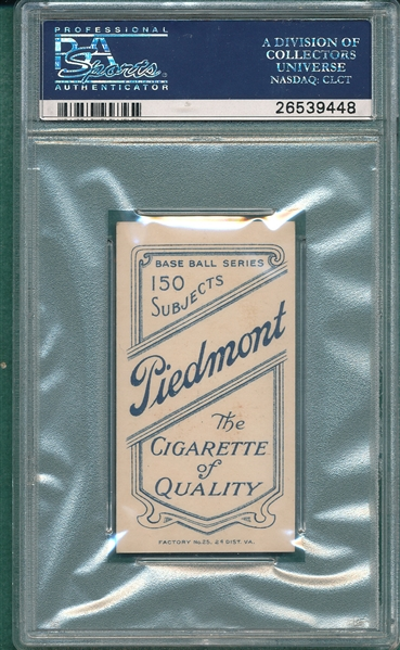 1909-1911 T206 Bresnahan, Portrait, Piedmont Cigarettes PSA 7 (MC) *Double Name*