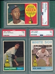 1960-78 Topps Lot of (7) W/ 1960 #317 Green PSA 7