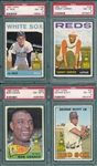 1964-67 Topps Lot of (4) W/ 1967 #75 Scott PSA 8