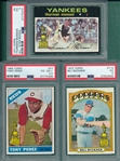 1966-72 Topps Lot of (3) W/ 1971 #5 Munson PSA