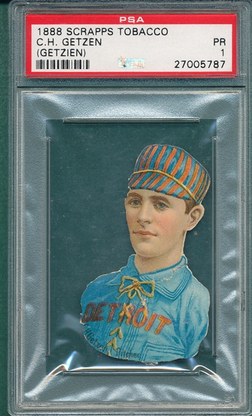 "1888 ""H. D. Smith & Co. GUM"" Getzen Scrapps PSA 1"