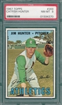 1967 Topps #369 Jim Hunter PSA 8