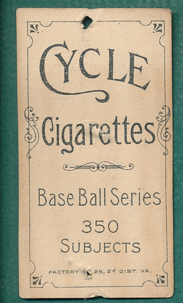 1909-1911 T206 Starr Cycle Cigarettes