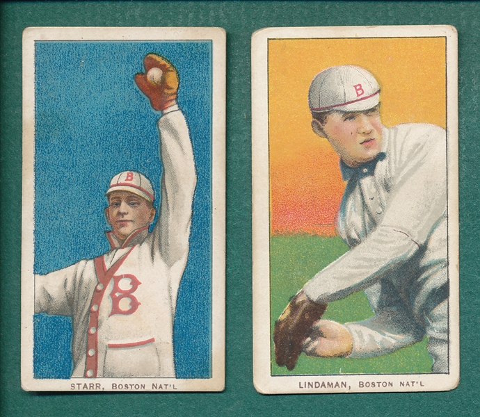 1909-1911 T206 Starr & Lindaman, Lot of (2) Sweet Caporal Cigarettes