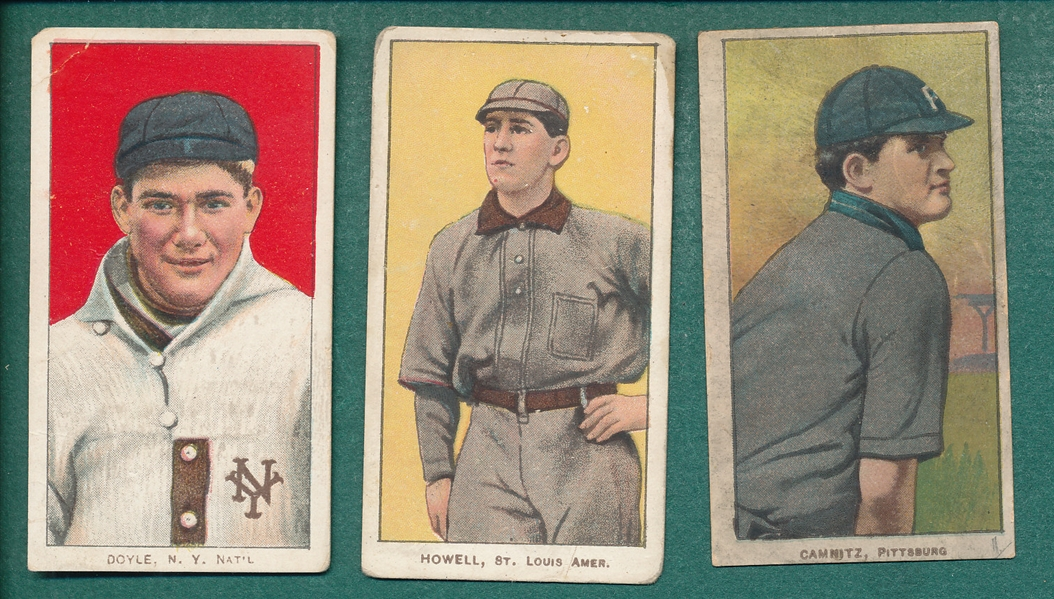 1909-1911 T206 Howell, Doyle & Camnitz, Lot of (3) Sovereign Cigarettes *460*