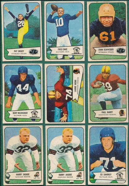 1952-55 Bowman FB (23) Card Lot