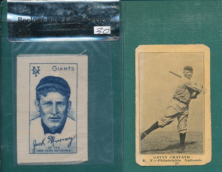 1910 S74 Silk Murray & 1917 Boston Store #35 Cravath, Lot of (2)