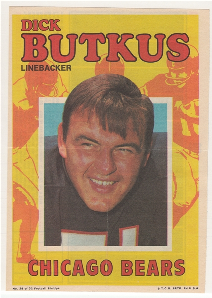 1968/71 Topps Football Posters Lot of (45) W/ Unitas