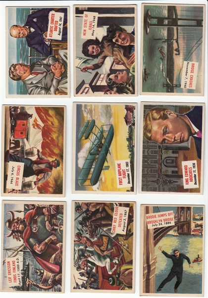 1954 Topps Scoops Partial Set of (78)