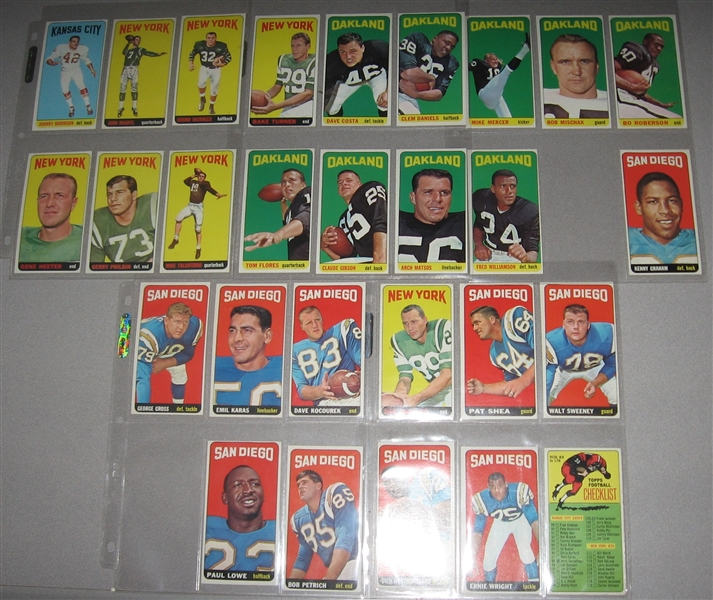1965 Topps FB Partial Set (82) W/ Checklist