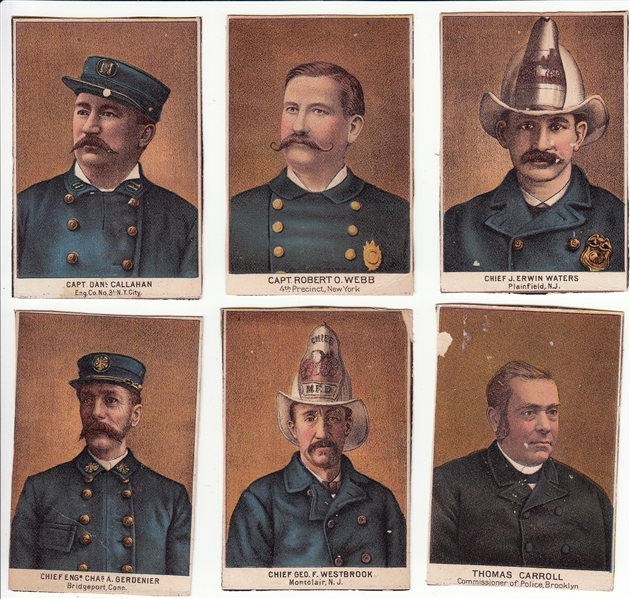 1887 N288 Buchner Police and Fire Chief Lot of (6)