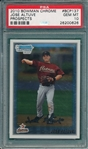 2010 Bowman Chrome #BCP137 Jose Altuve, Prospects, PSA 10 *GEM MINT* *Rookie*