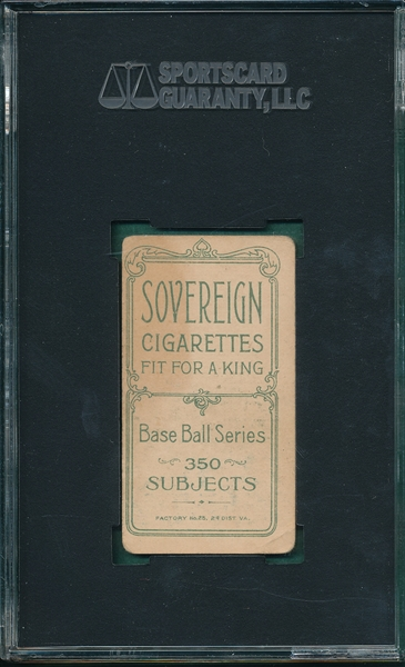 1909-1911 T206 Armbruster Sovereign Cigarettes SGC 40