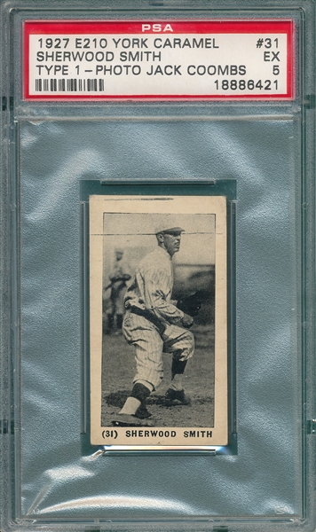 1927 E210-1 #31 Sherwood Smith York Caramels PSA 5