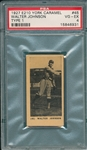 1927 E210-1 #45 Walter Johnson York Caramels PSA 4