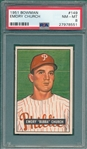 1951 Bowman #149 Emory Church PSA 8