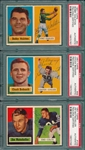 1957 Topps FB #49 Bednarik, #61 #103, Lot of (3) Autographed Cards, PSA Authentic