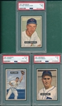 1951 Bowman #105, #154 & #175, Lot of (3) PSA